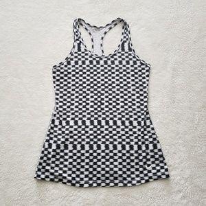 Nike Tops - Nike Black and White Checkered Tank